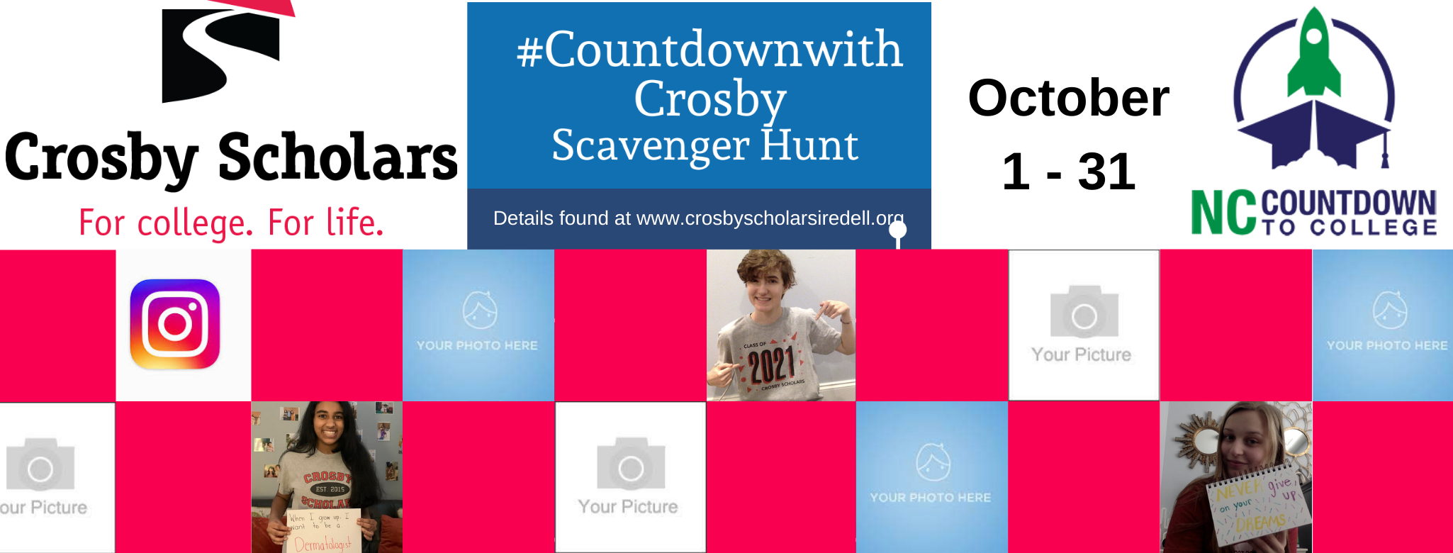 #CountdownWithCrosby Scavenger Hunt